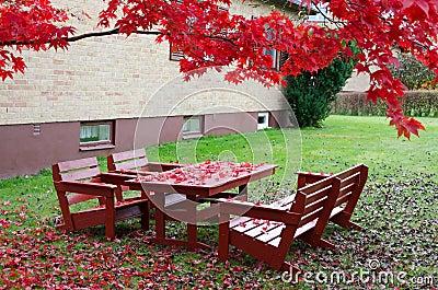 October s garden scenery