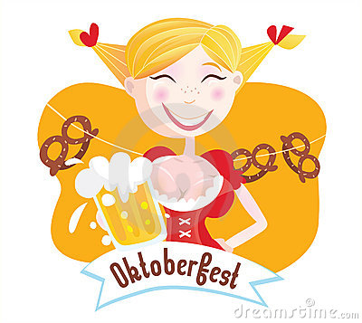 Free Octoberfest (Bavarian Woman) Royalty Free Stock Images - 11104889