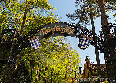 Octoberfest entrance Editorial Stock Image