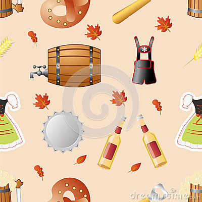 Octoberfest seamless pattern vector