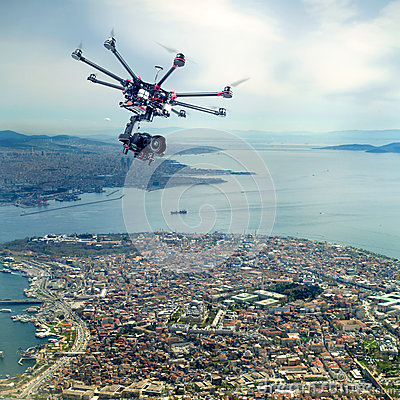 Free Octocopter, Copter, Drone Royalty Free Stock Photography - 64584727