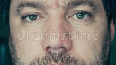 Oczy dorosli mężczyźni zbiory wideo