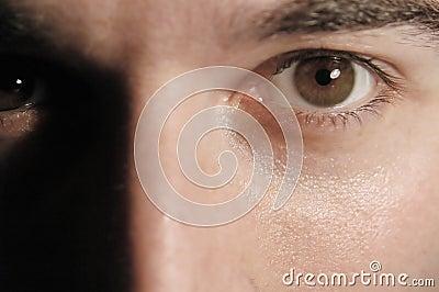 Oczy odprężona