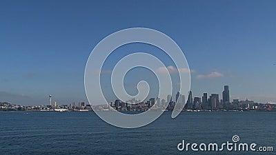 Od równiny linia horyzontu Seattle, Stany Zjednoczone zbiory wideo