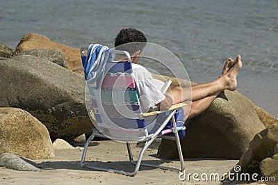 Odczyt na plaży