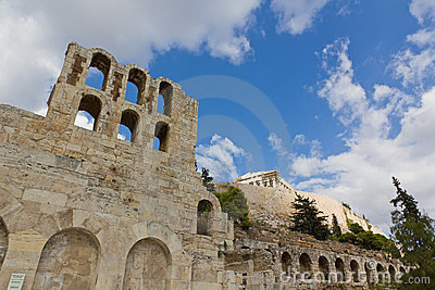 Odeon of Herodes Atticus and Acropolis, Athens