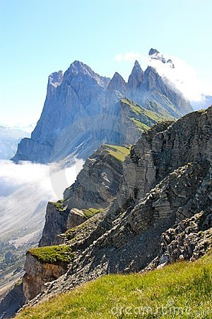 Odle mountains in the Dolomites, Italy