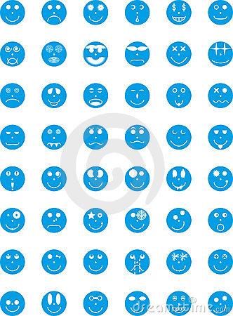 Odznak wyrażeń ikon osob symbole