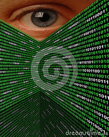 Oeil de égrappage de Spyware de Cyber