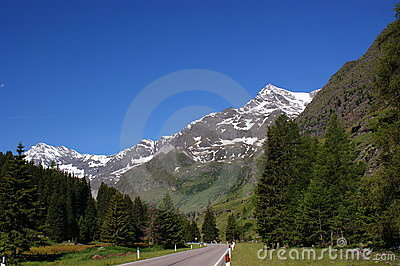 The Oetztal Alps in Italy