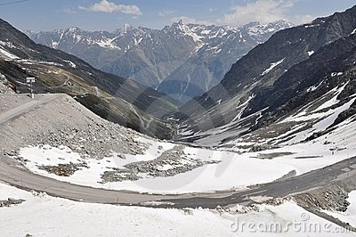 Oetztal Valley with alpine road, Austria