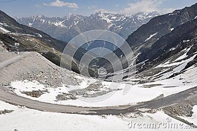 Oetztal Valley with alpine road, Austria