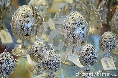 Oeufs de bijou de Pâques