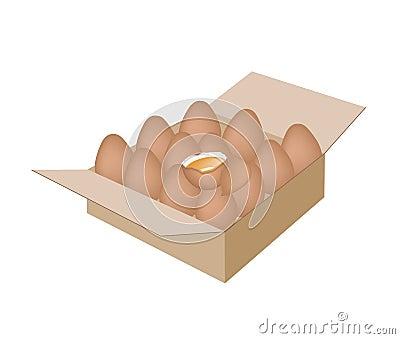 oeufs frais de poulet dans un carton d 39 exp dition image. Black Bedroom Furniture Sets. Home Design Ideas