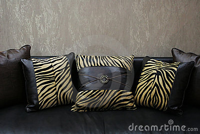 Ofa with print cushions