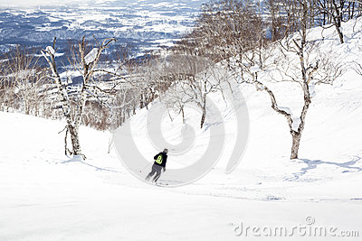 Off-Piste Skiing through Trees