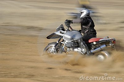 Off-road biker - motion blured