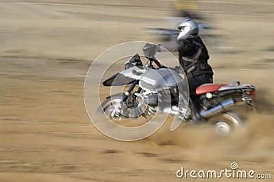Off-road biker - motion blured