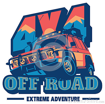 Free Off-road Car Logo, Safari Suv, Expedition Offroader. Stock Images - 86104774