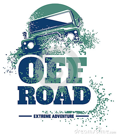 Free Off-road Car Logo, Safari Suv, Expedition Offroader. Stock Photo - 86104780