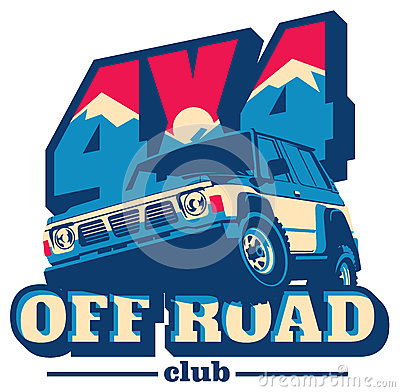 Free Off-road Car Logo, Safari Suv, Expedition Offroader. Stock Images - 86104924