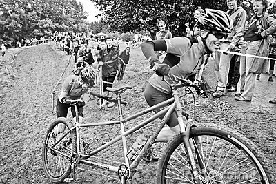 Off-Road Cyclocross Tandem Editorial Stock Photo