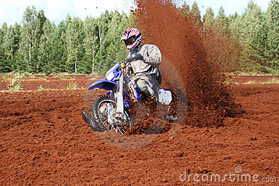 Off-road motorbike in extreme dirt.