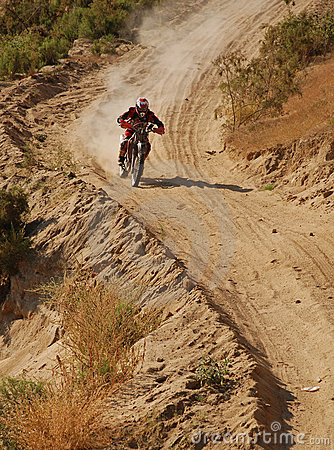 Off Road Motorcycle Racer