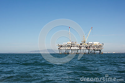 Off Shore Oil Rig Editorial Stock Image