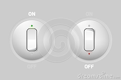 ON-OFF switch web buttons
