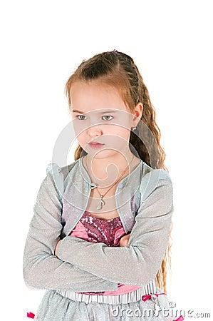 Offended girl