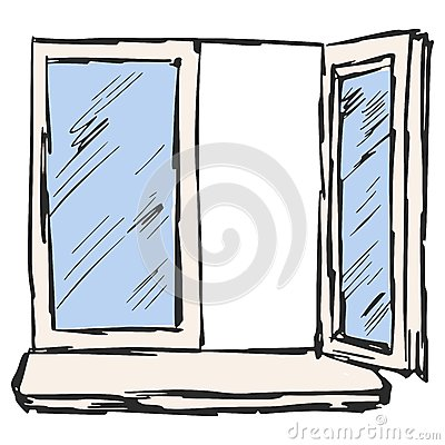 Offenes fenster gezeichnet  Offenes Fenster Gezeichnet   Haus Deko Ideen