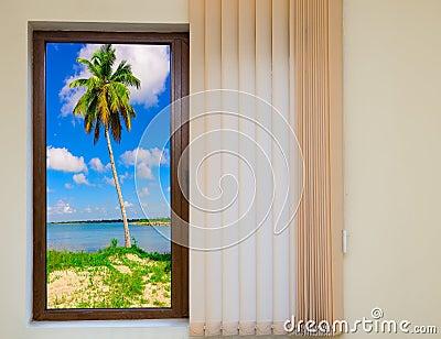 Offenes fenster meer  Offenes Fenster Zum Meer Stockfoto - Bild: 79974763