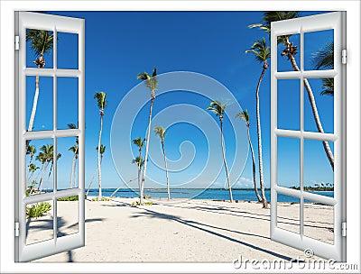 Offenes fenster meer  Offenes Fenster Zum Meer Stockfoto - Bild: 79974860