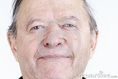 Offenes Porträt des älteren Mannes