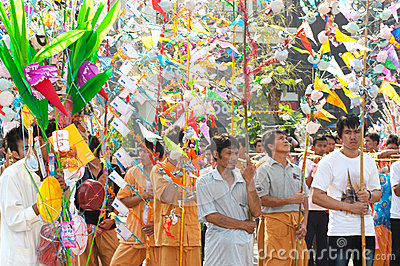 Offering given as alms on parades of Poy-Sang-Long Festival in N Editorial Photography
