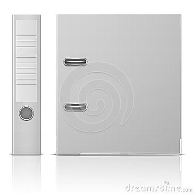 Free Office Binder, Back And Side View. Stock Photo - 36870440