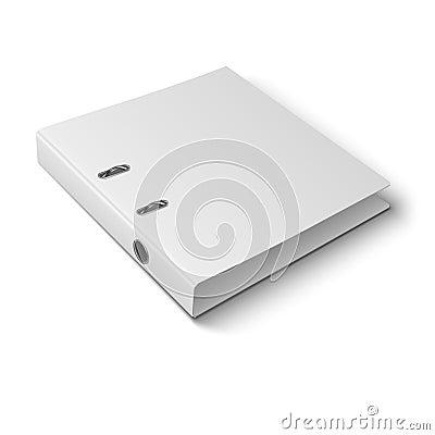 Free Office Binder Laying On White Background. Stock Photo - 36901650