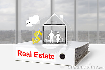 Office binder real estate family home dollar symbol stock photo image 44115428 - Family office real estate ...