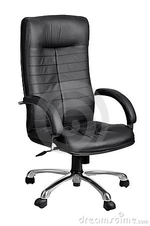 Office black armchair