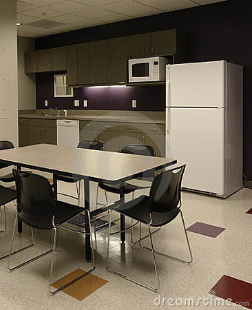 Office break room cafe - employee kitchen space