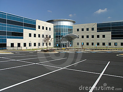Office Building Glass Exterior Front 3