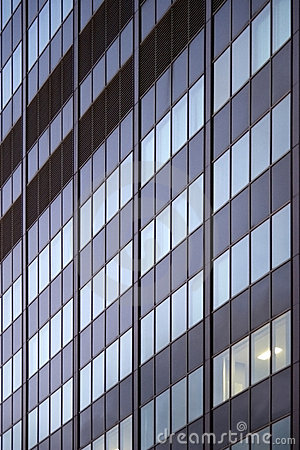 Free Office Building One Light Room Window Pattern Royalty Free Stock Photos - 12318328