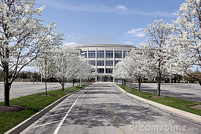 Office building in spring