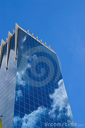 Free Office Building With Reflection Of Clouds Stock Photo - 11037650