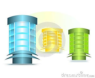 Office buildings, cdr vector