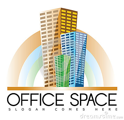 Office Buildings Real Estate Logo