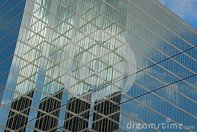 Office buildings with reflections