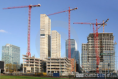 Office buildings under construction