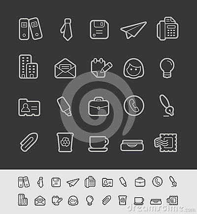 Free Office & Business Icons // Black Line Series Stock Photos - 49950703